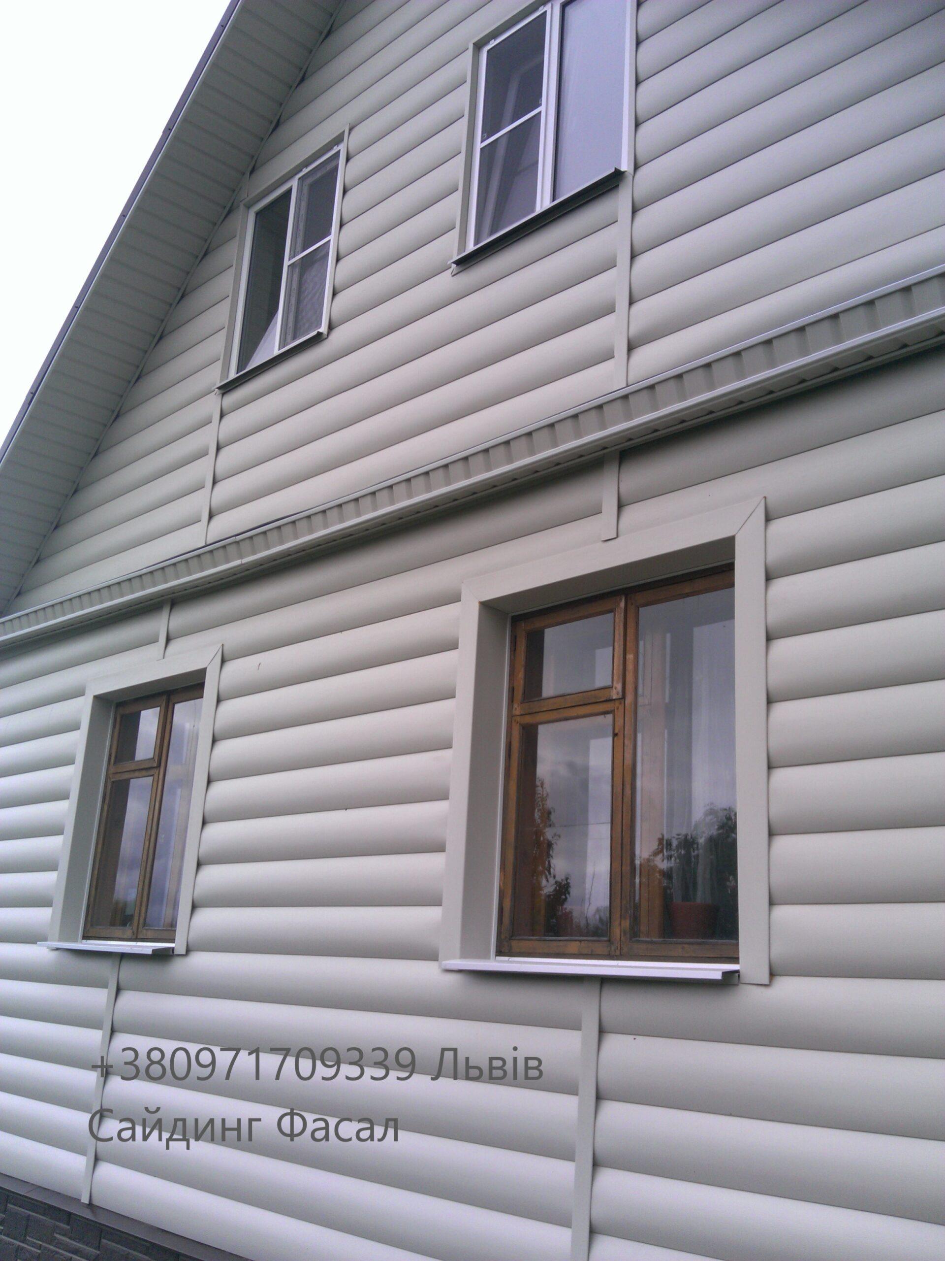 Блок хаус Альта профіль бежева одно-двух переломна під колоду 3,100,32 см (2)