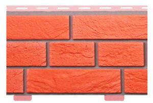 Фасадні панелі Цегла Словянка Червона (сайдинг цокольний) Альта профіль