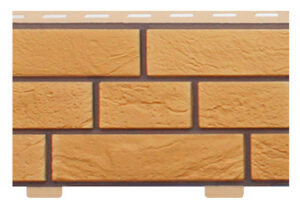 Фасадні панелі Цегла Словянка Жовтий (цокольний сайдинг)