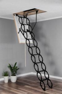 Ножицові металеві сходи на горище оман, ціна, купити Львів_0971709339 Сайдинг Фасад