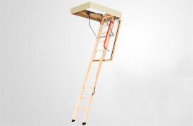 Сходи на горище з дерев'яною драбиною Факро LTK Thermo