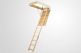 Сходи на горище з дерев'яною драбиною Факро LWS Smart