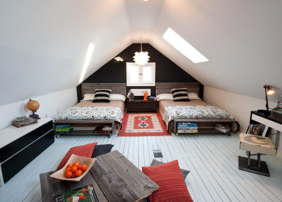 Спальня На Мансарде: Необычные Идеи, Дизайн, Фото Интерьеров in 79 верхний Спальня В Мансарде - Goopos